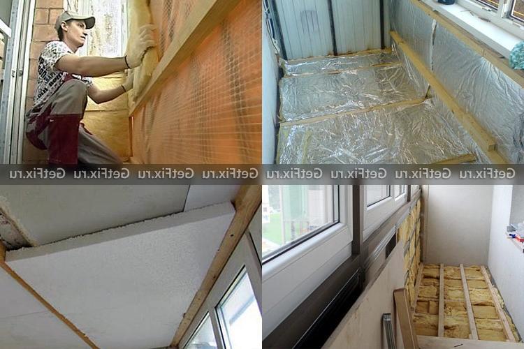 Утепление потолка балкона и лоджии своими руками изнутри: пошаговая инструкция