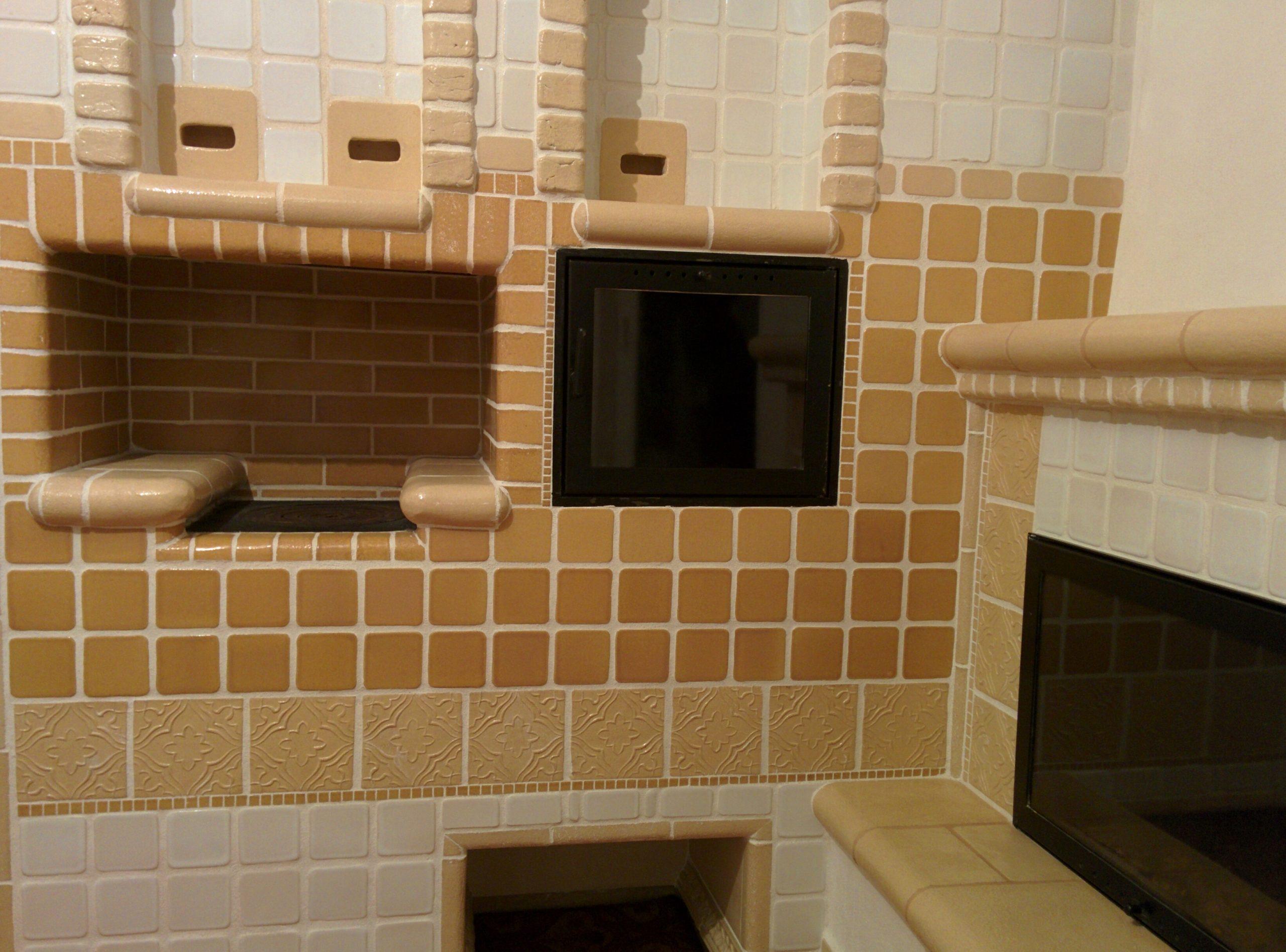 Облицовка печи (кафельной, керамический) плиткой (15 фото)