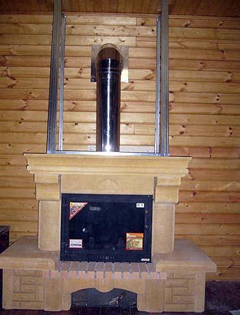 Установка камина в деревянном доме, основные этапы работы