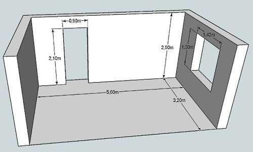 Как посчитать площадь стены в квадратных метрах по площади пола: формула
