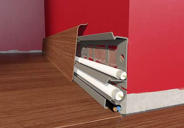 Особенности системы отопления с подключением радиаторов из плинтусных