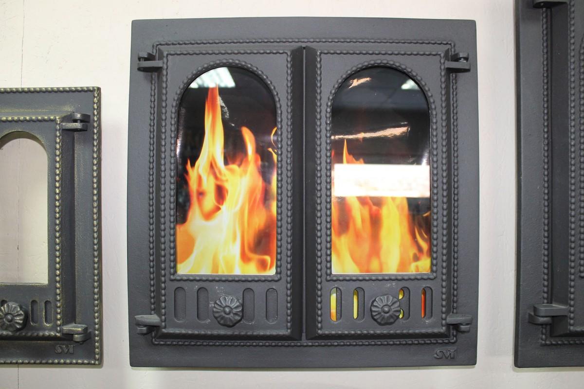 Каминопечь со стеклянной дверцей: схема металлического камина-печи с обдувом дверцы из термостекла