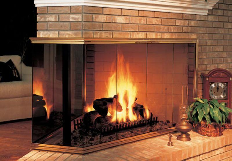 Топка для камина со стеклом: встроенные камины с защитой из огнеупорного стекла