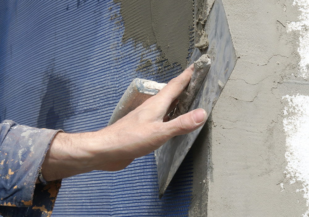 Штукатурка фасада по пенопласту: как штукатурить пеноплекс