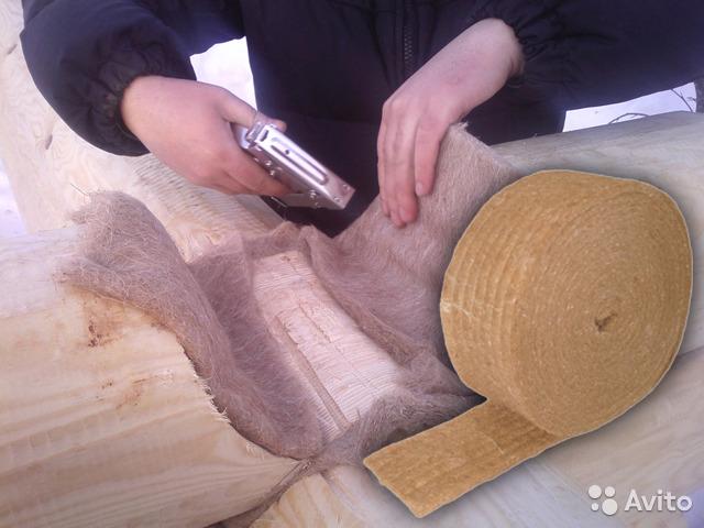 Межвенцовый утеплитель для бруса, как выбрать: видео, фото | утепление своими руками