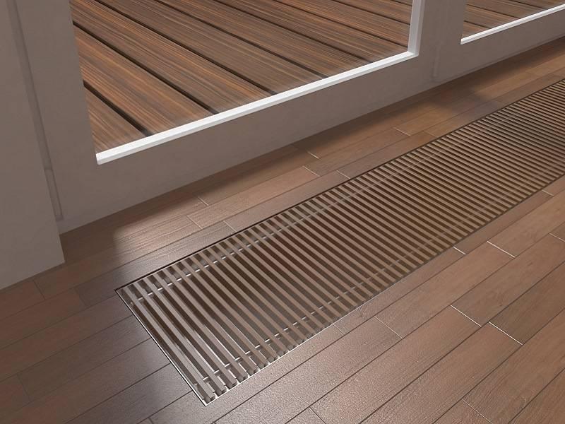 Напольные радиаторы отопления: низкие и встраиваемые в пол, для панорамных окон