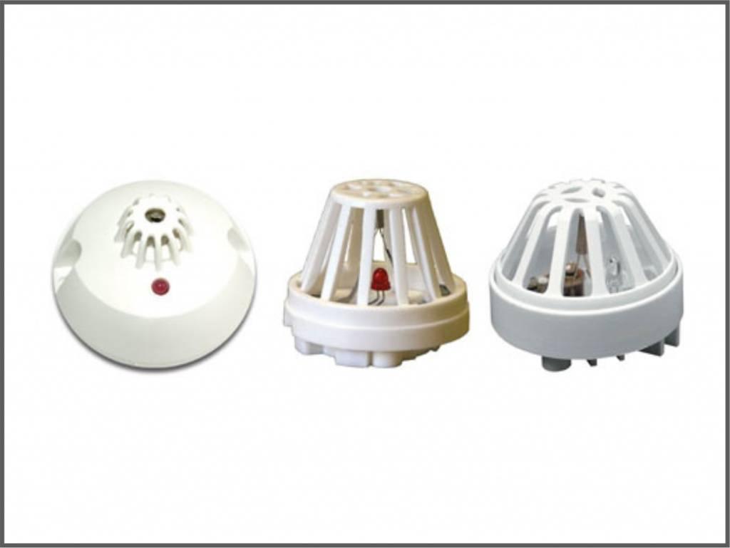 Тепловой пожарный датчик: виды, типы, конструкция и принцип работы