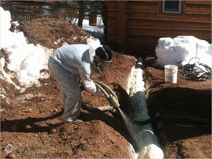 Как утеплить водопроводную трубу над землей
