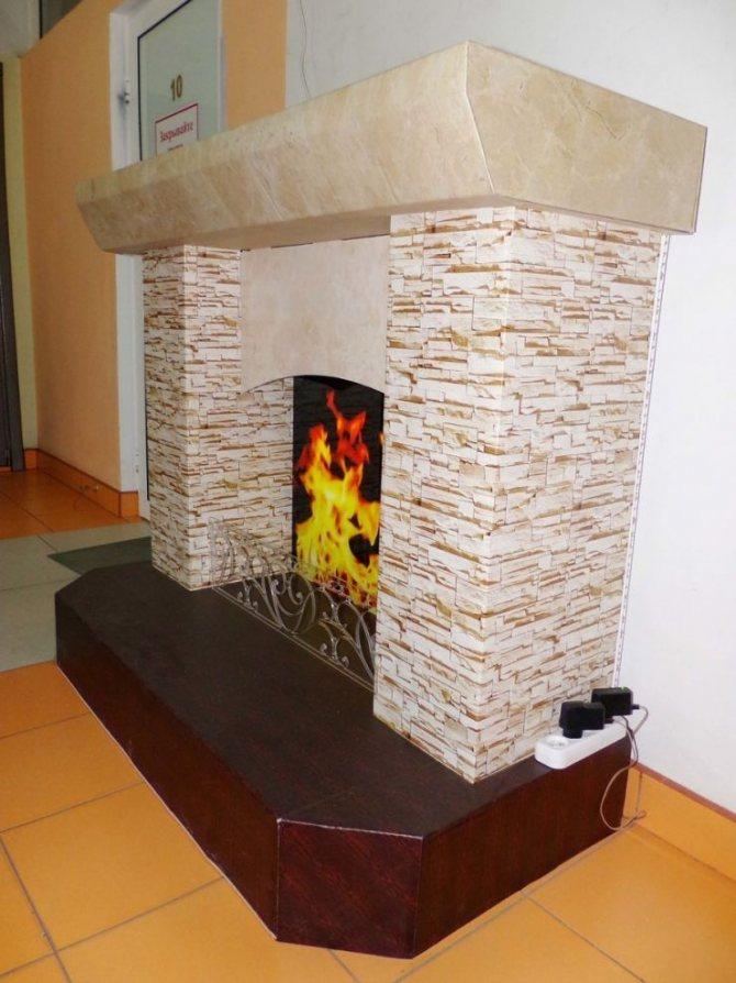 Небольшой камин своими руками как сделать из кирпича и построить