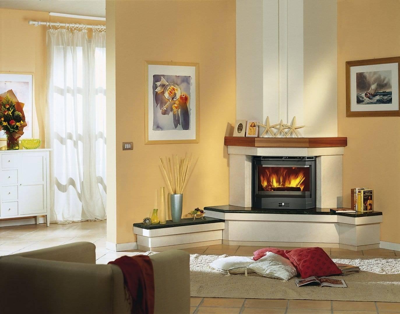 Электрокамин в интерьере (56 фото): настенные электрические камины в квартире