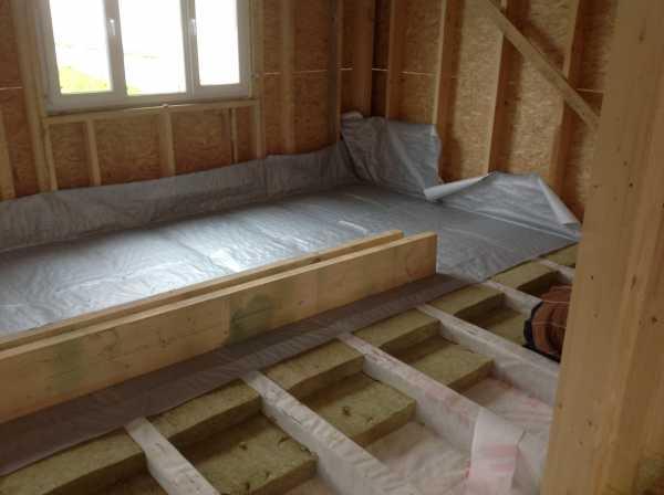 Теплый пол в каркасном доме на винтовых сваях, как его сделать?