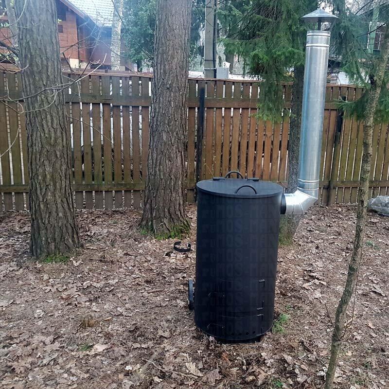 Печи для сжигания мусора: садовые, пиролизные, домашние
