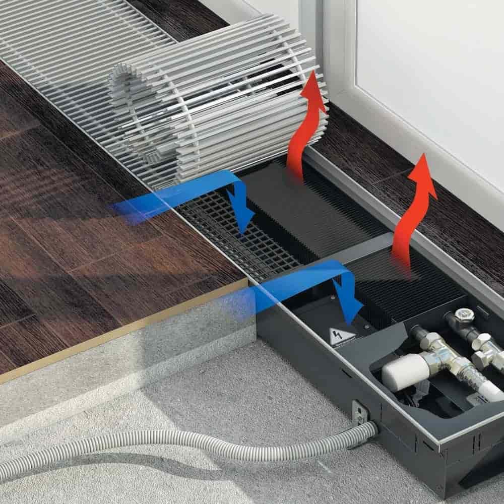 Конвекторы varmann: особенности водяных внутрипольных встраиваемых и напольных моделей, мощность и подключение