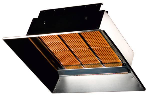 Инфракрасная газовая горелка керамическая с регулировкой излучения: расход газа