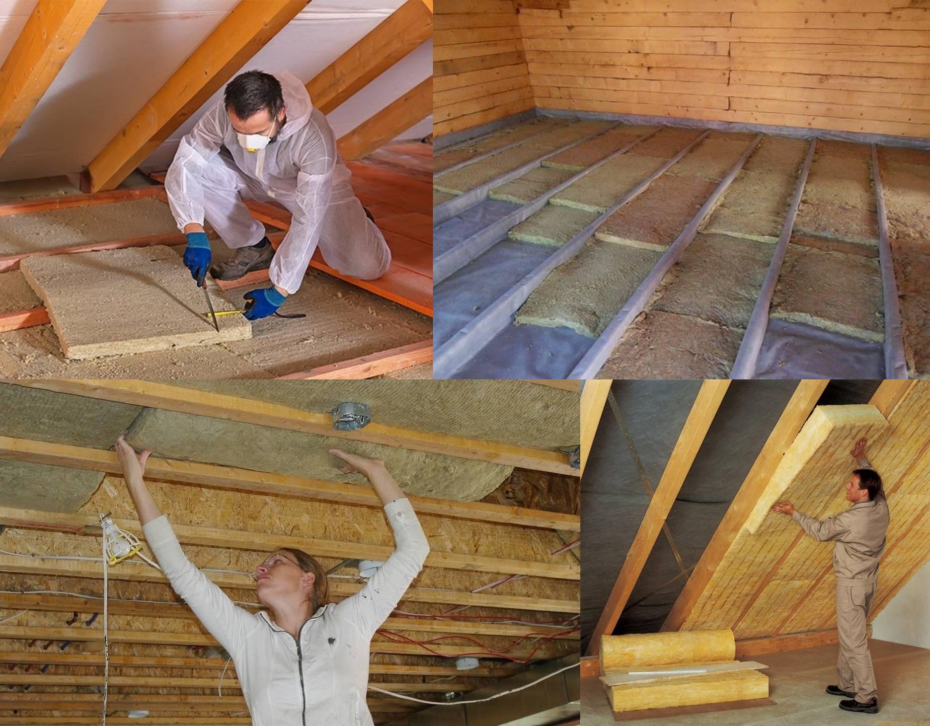 Учимся утеплять крышу дома изнутри