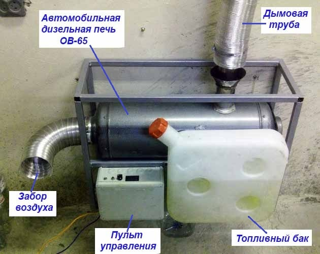 Печка на солярке, как сделать своими руками для отопления