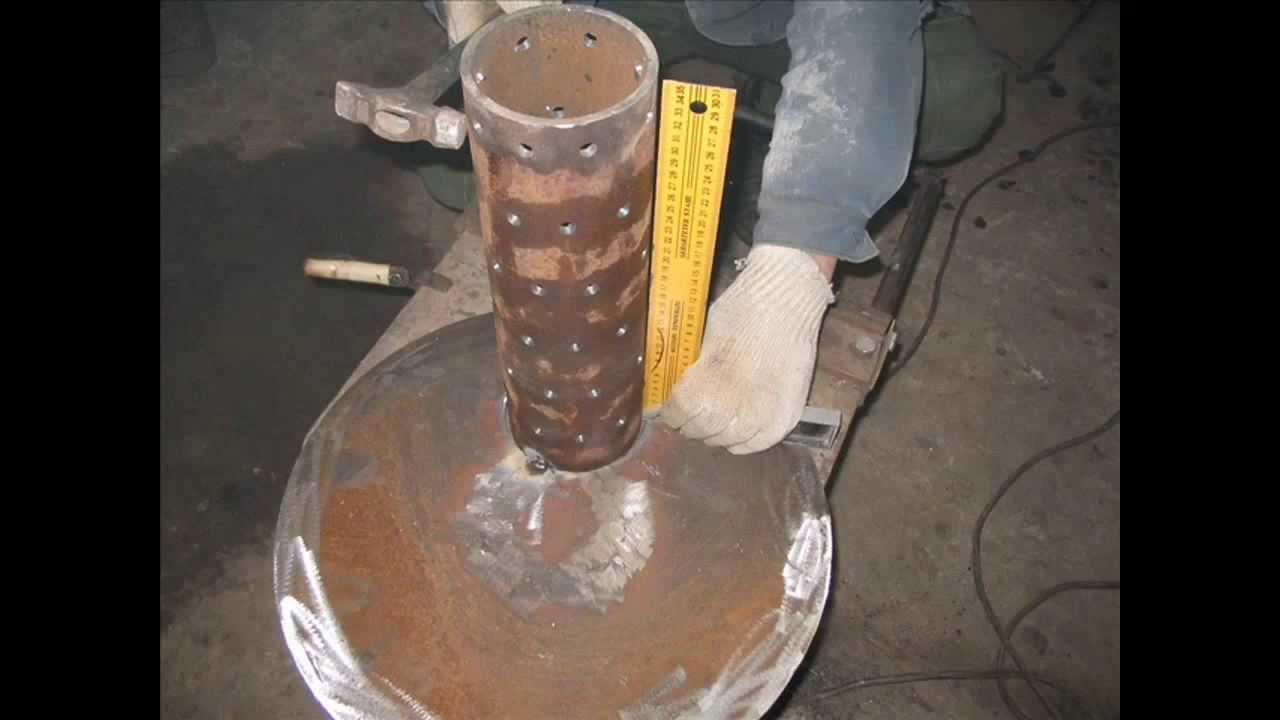 Печка на отработке своими руками: чертежи, видео и описание процесса изготовления