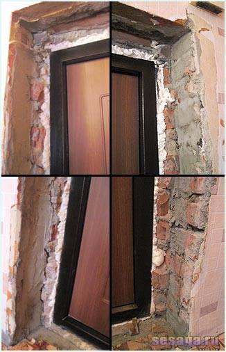 Установка откосов входной двери: пошаговая инструкция (27 фото)