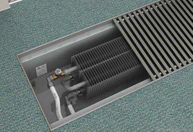 Подключение конвектора установка отопления, монтаж экрана и схема