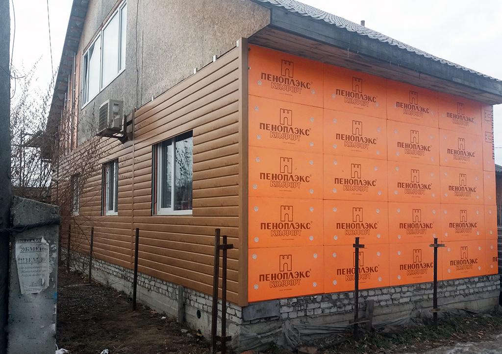 Утепление стен снаружи пеноплексом: технология
