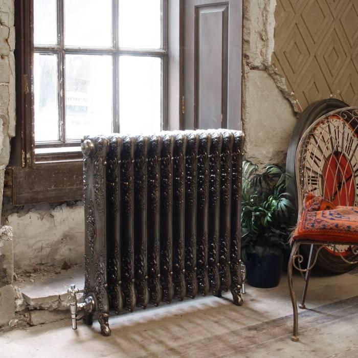 Чугунные ретро радиаторы отопления в интерьере