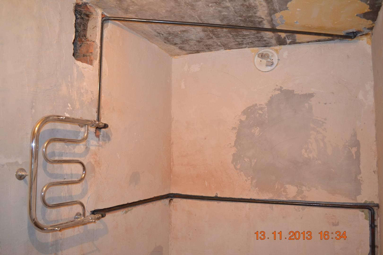Перенос полотенцесушителя на другую стену своими руками | тепломонстр