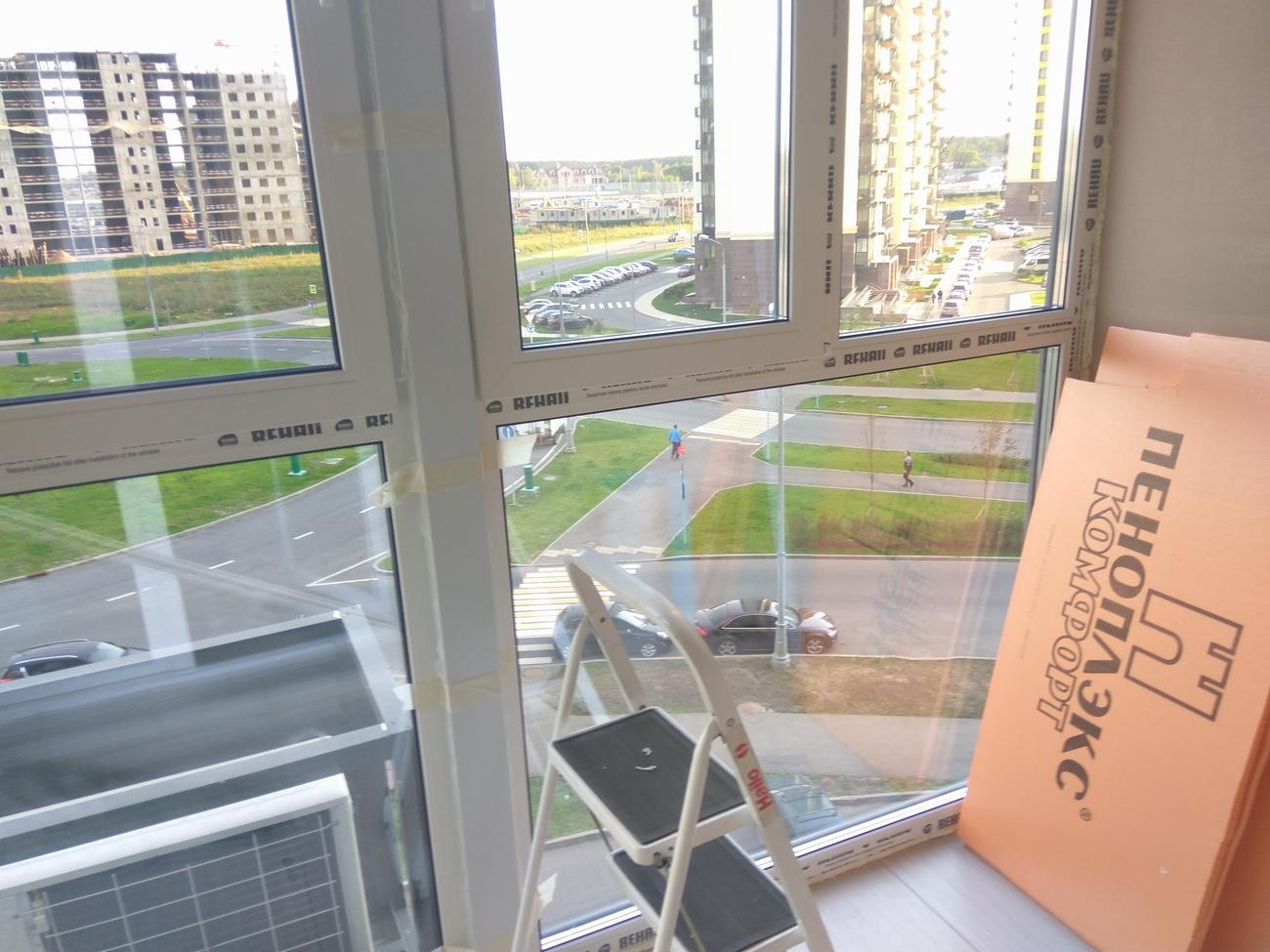 Утепление балкона с холодным остеклением