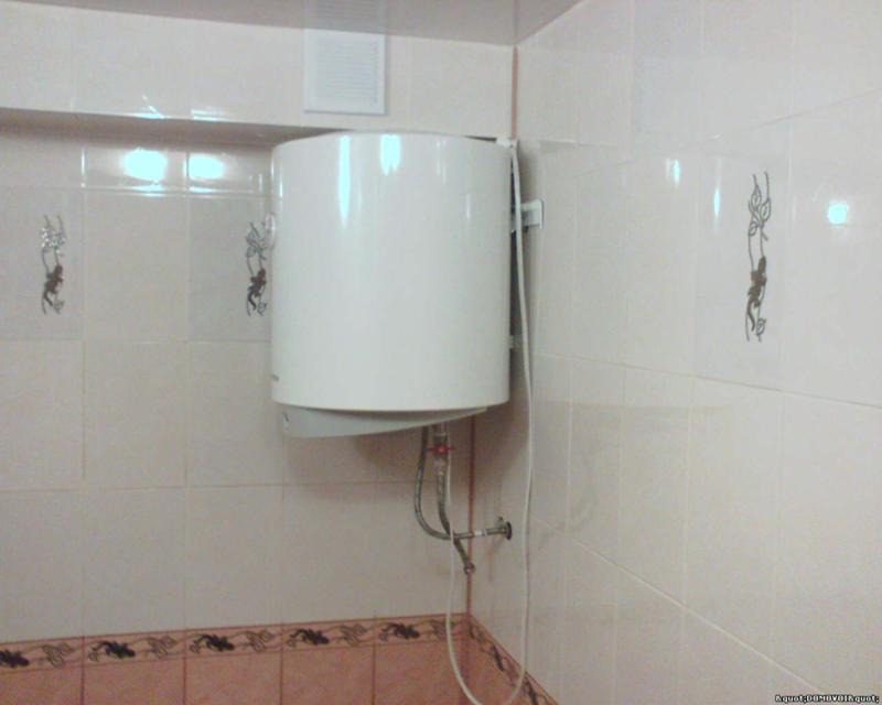 Установка водонагревателя