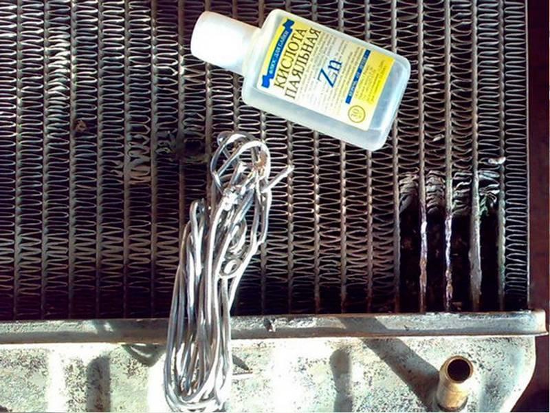 Как запаять алюминиевый радиатор в домашних условиях - чем отремонтировать: удалить окисление, заклеить дырку и устранить течь