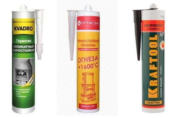 Высокотемпературный герметик для печей - виды, применение, обзор лучших