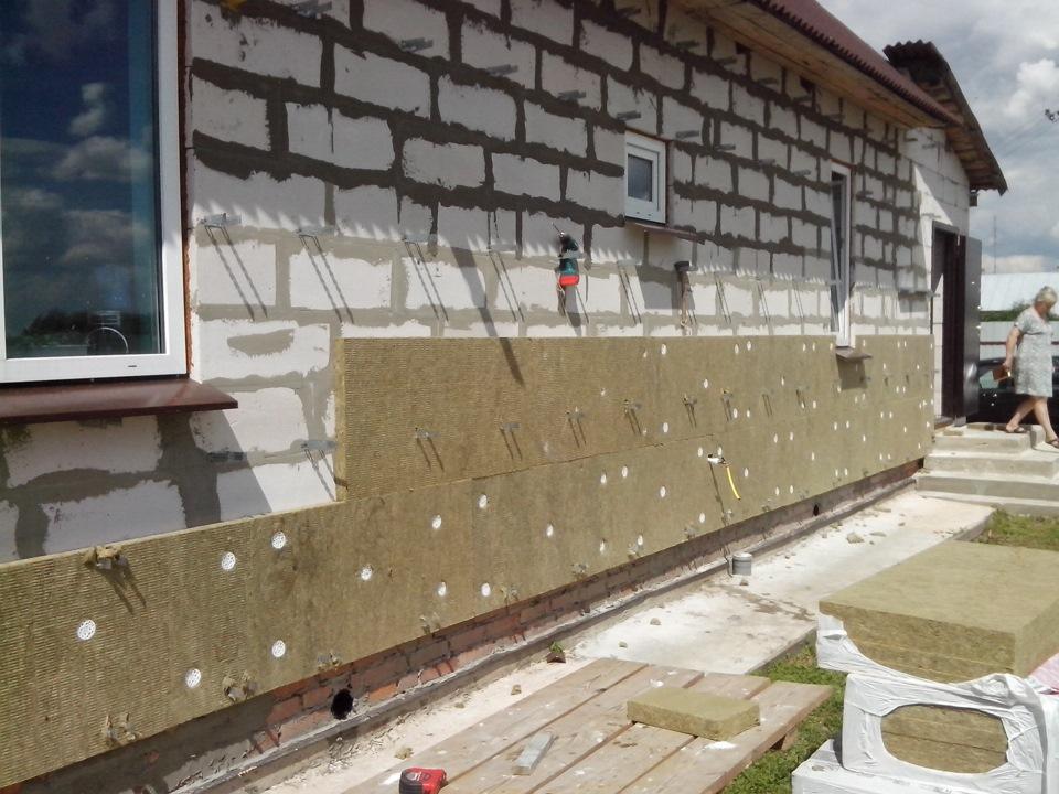 Утепление стен базальтовой ватой и штукатурка фасадов зданий