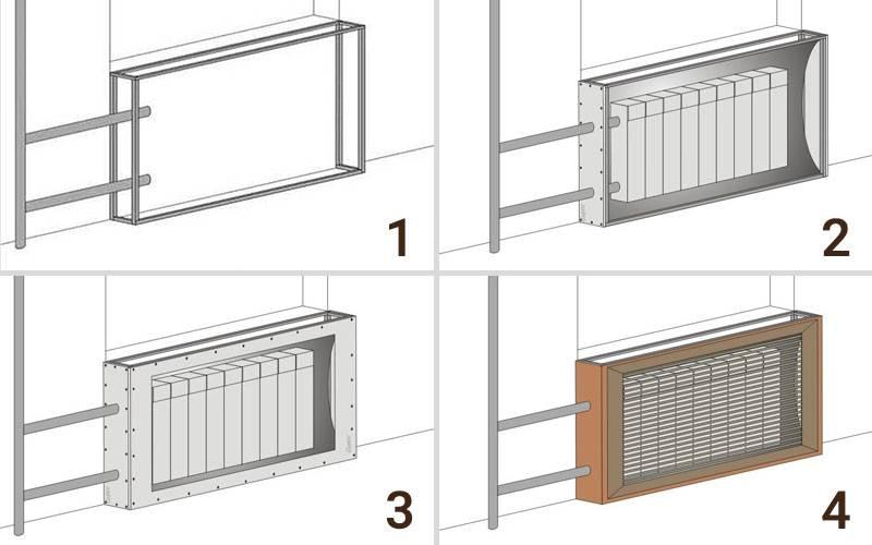 Экран на батарею отопления: 80 фото лучших советов как правильно спрятать радиатор отопления
