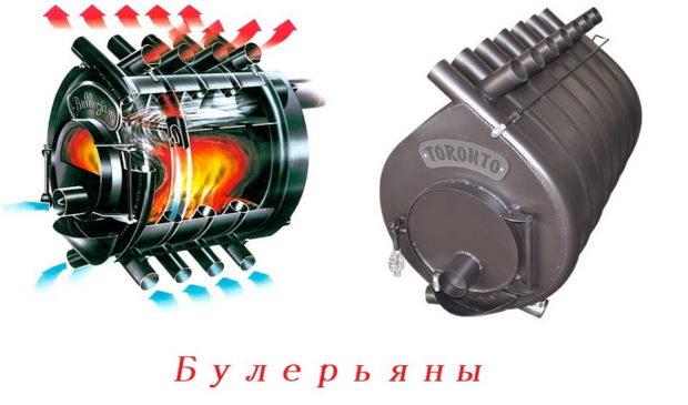 Печь булерьян (бернеран): устройство и принцип работы