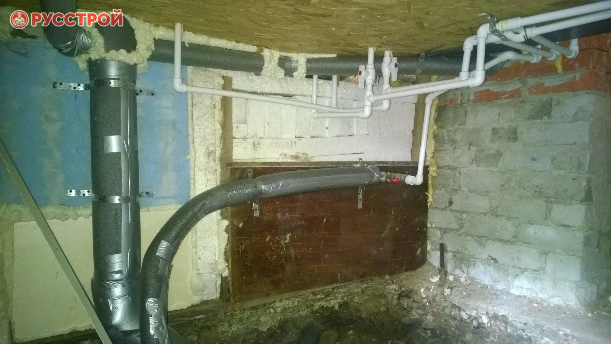 Как утеплить трубы отопления на улице или чердаке: обзор доступных способов. утепляем коммуникации в подвале: трубы отопления