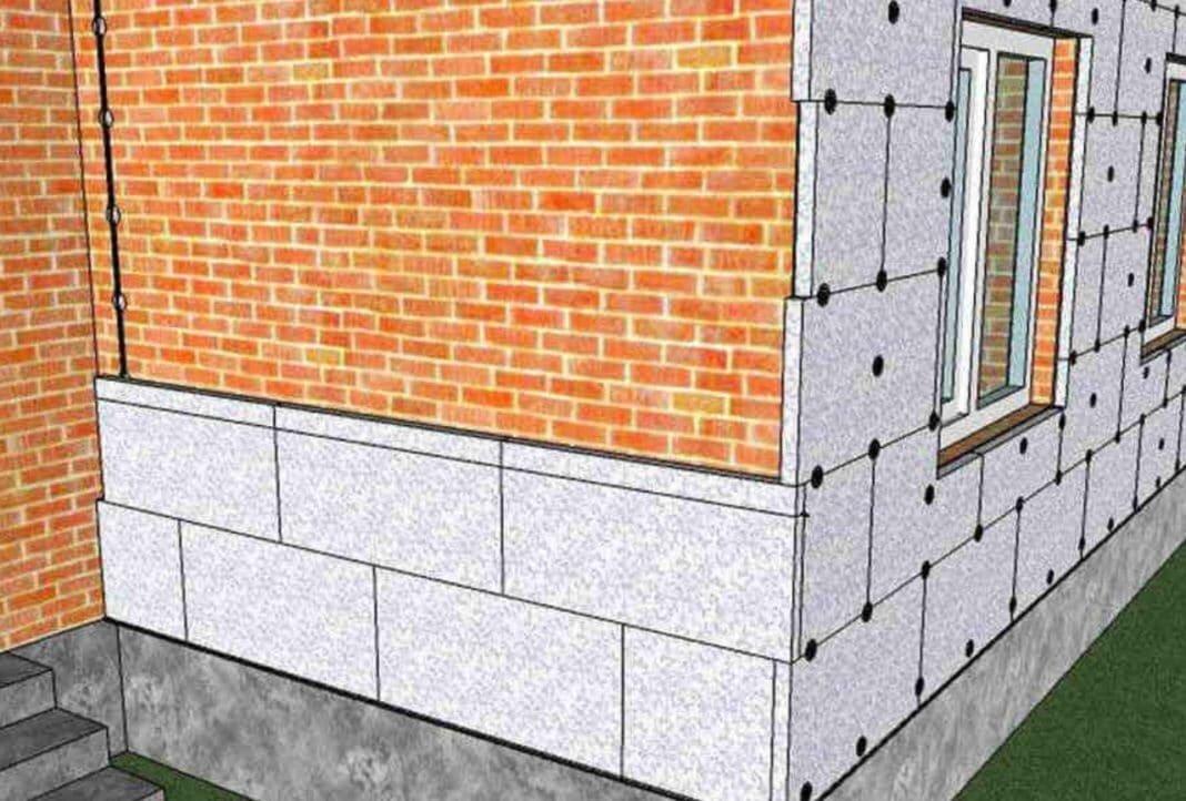Утепление наружных стен пенополистиролом своими руками: материалы, инструменты, подготовка, процесс (видео) | тепломонстр