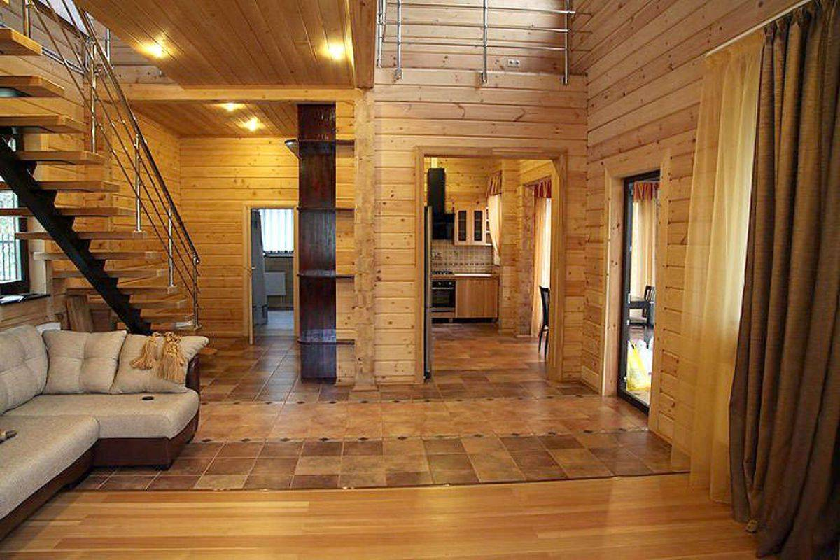 Внутренняя отделка загородного дома и коттеджа - фото примеров