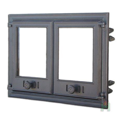 Дверцы для камина (44 фото): каминные дверки со стеклом, стеклянные двери, изготовление своими руками