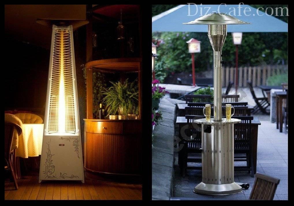 Уличный газовый обогреватель: для отопления, для веранды и другие варианты