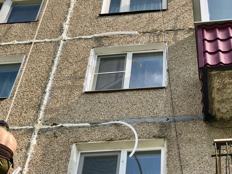 Как утеплить швы в панельных домах