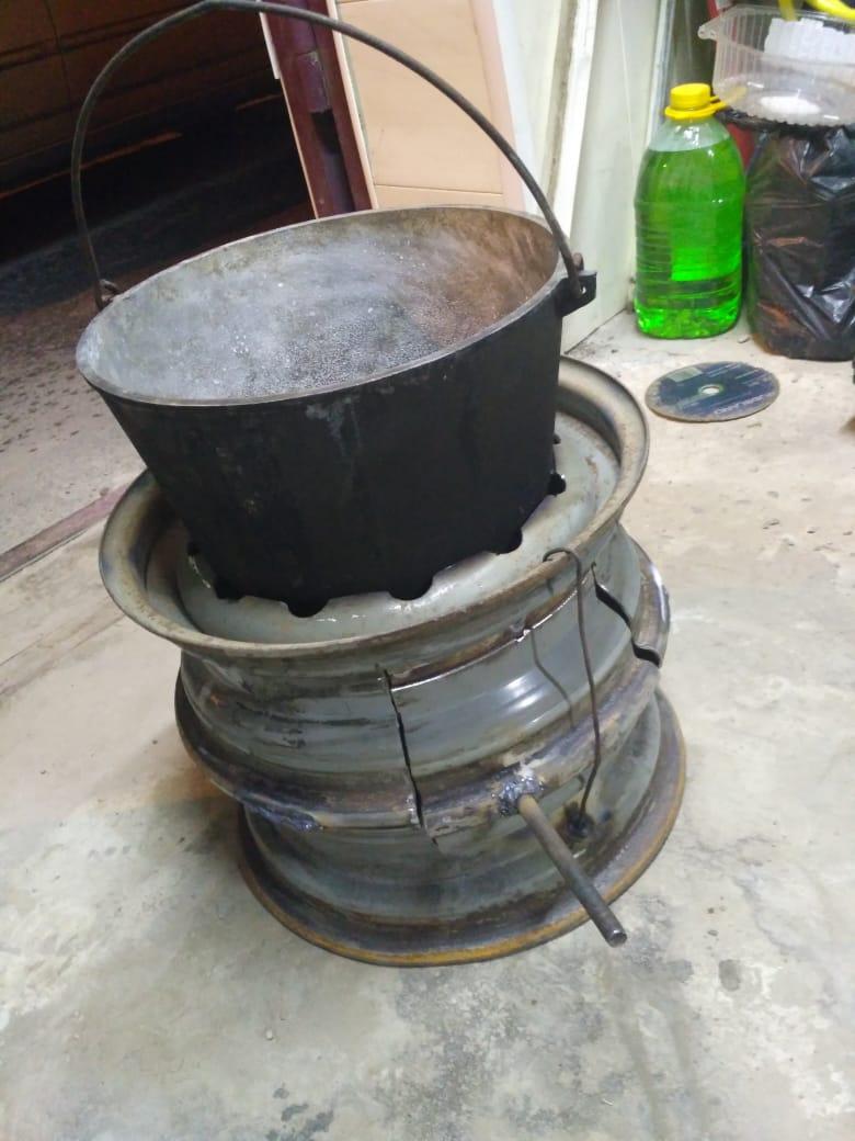 Инструкция по изготовлению буржуйки из колесных дисков своими руками