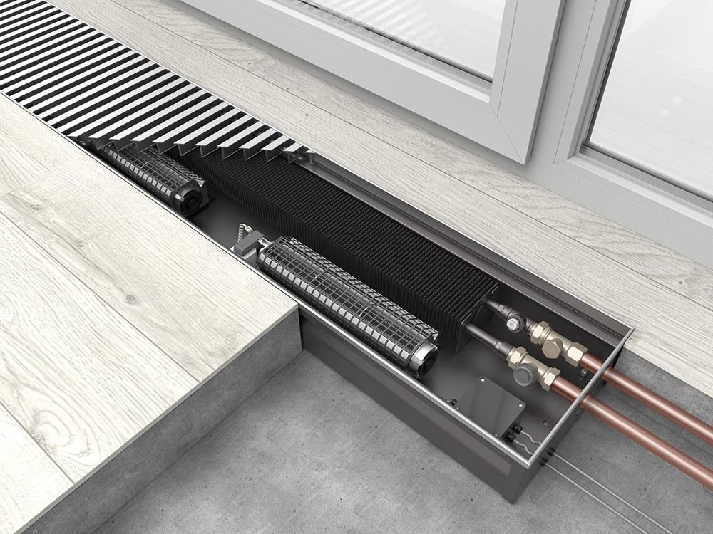 Водяные внутрипольные конвекторы отопления. выбор, плюсы и минусы