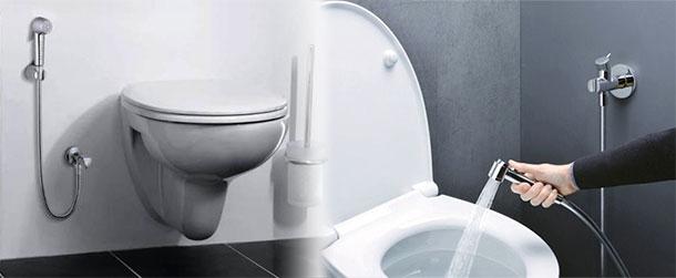 Гигиенические души в туалете: особенности установки и фото