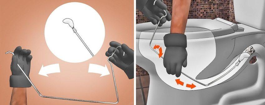Как прочистить засор в унитазе?