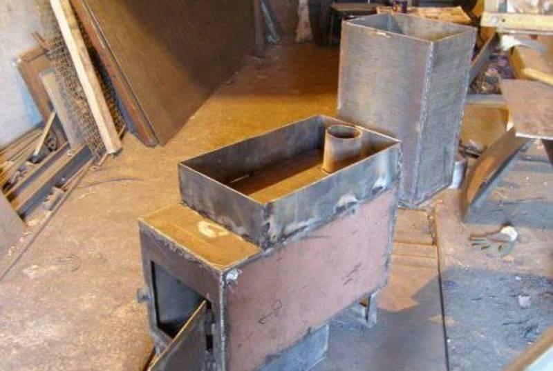 Печь своими руками из металла - изготовление и установка!