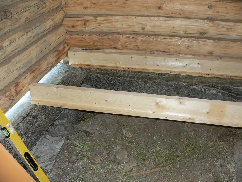 Утепление деревянного пола пеноплексом