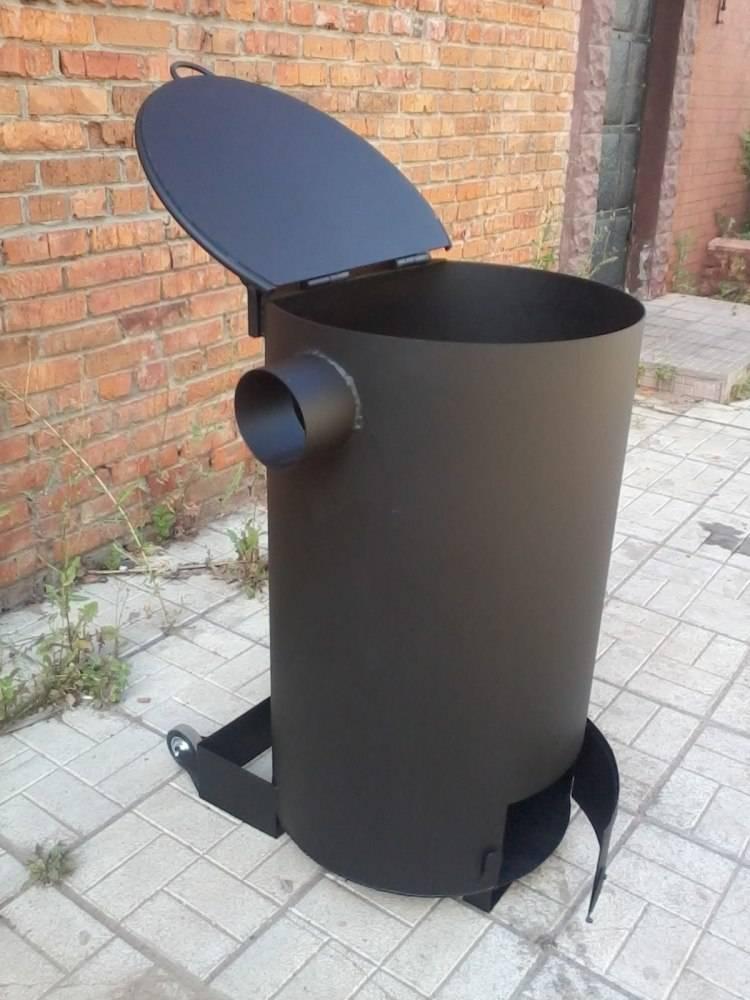 Дачная печь для сжигания отходов