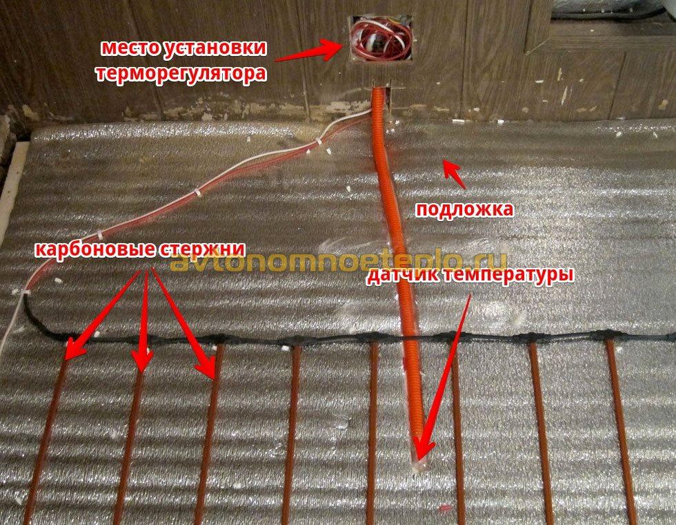 Карбоновый теплый пол под плитку: отзывы и пошаговый монтаж