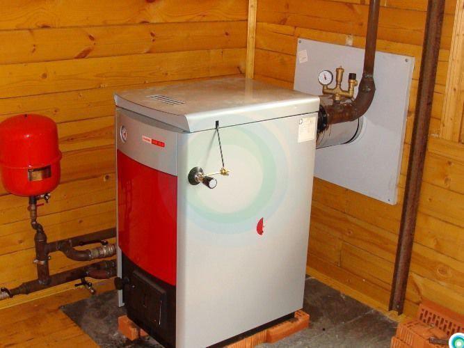 Отопление частного дома твердотопливным котлом на дровах