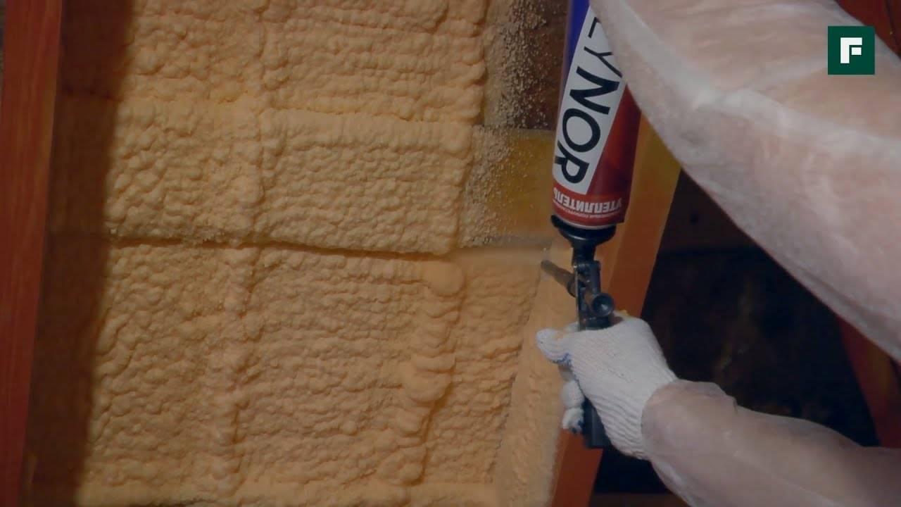 Утепление ппу: напыляемый (жидкий) утеплитель для стен и пола.