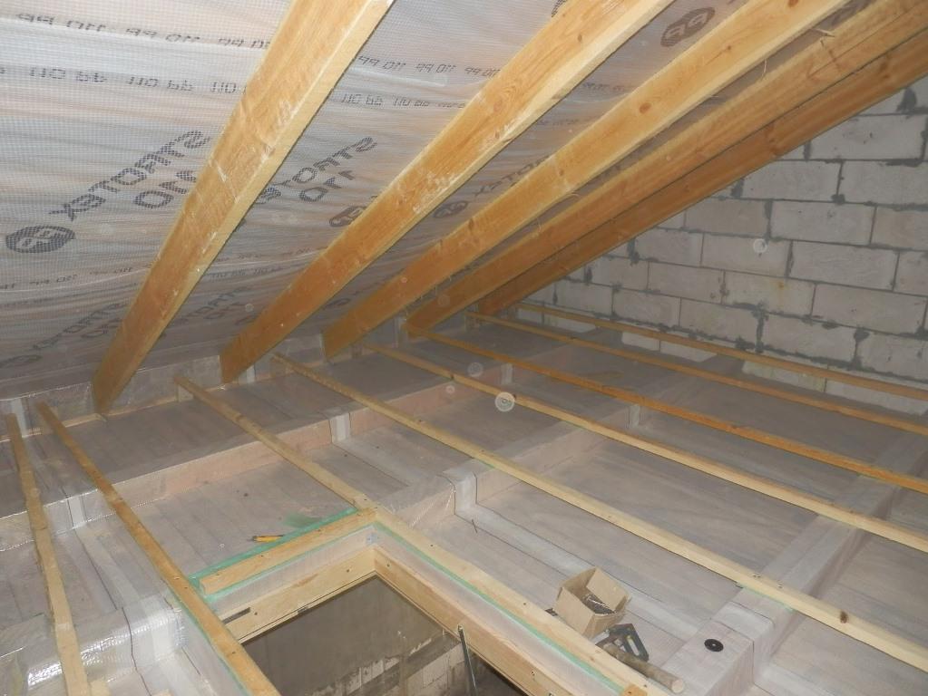 Утепление мансарды изнутри, если крыша уже покрыта: порядок работ и полезные советы